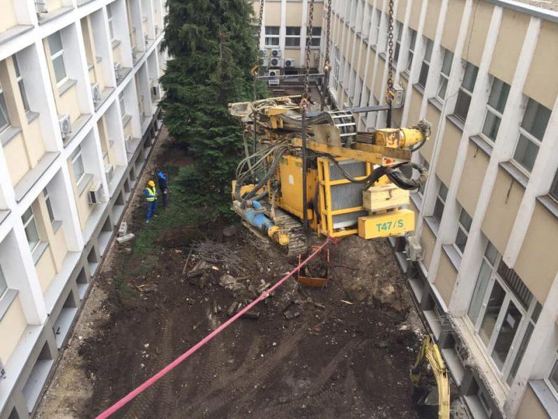 Foraje micropiloti Spitalul Judetean Suceava